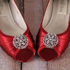 Red Wedding Shoes, Wedding Wedges, Wedge Wedding Shoes, Custom Wedding Shoes, Design Your Own Wedding Shoes, Ellie Wren