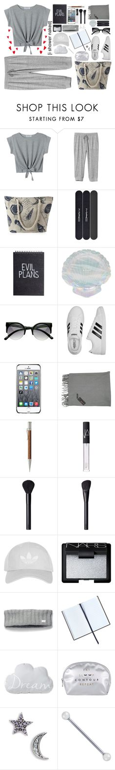 """""""Grey"""" by aster-rubidus ❤ liked on Polyvore featuring WithChic, Gap, MAC Cosmetics, Forever 21, adidas, Fendi, Faber-Castell, NARS Cosmetics, Topshop and Under Armour"""