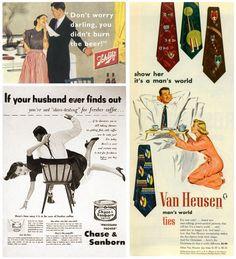 Szexista reklámok az '50-es, '60-as évekből Its A Mans World, Marketing, Typo, No Worries, Pattern, Movie Posters, Patterns, Film Poster, Model