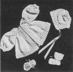 Crocheted Baby Set No. 1205