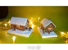 Mobilier, decoratiuni, Obiecte, plante deco, Macheta Diorama ornament decorativ sarbatori iarna, brad Craciun, imaginea 1 din 7