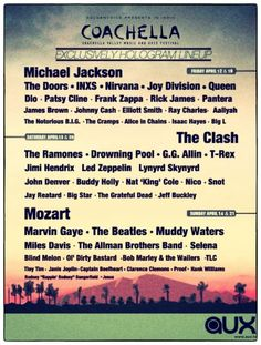 Coachella 2013 LineUP _ This is what happens when our music of 2012 SUCKS, we have to do this