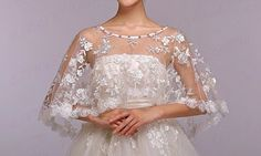 This fabulous bridal bolero creates a sparkling elegance for any formal occasion.  Soft, elegant finish to any outfit.  Perfect addition to any formal