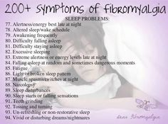 200 symptoms of fibromyalgia | 200+ Symptoms of Fibromyalgia- Sleep Problems
