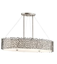 Kichler 43348CLP Silver Coral 4 Light 16 inch Classic Pewter Chandelier Ceiling Light #LightingNewYork