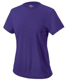 Charles River Apparel Style 2830 Women's Pique Wicking Tee - SweatshirtStation.com #purpleshirt #ladiestee #charlesriverapparel