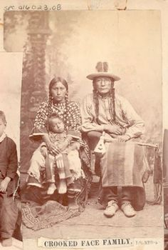 Crooked Face with wife and son - Crow - no date