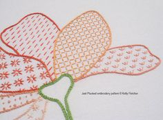 Just Plucked hand embroidery pattern by KFNeedleworkDesign on Etsy, $9.40