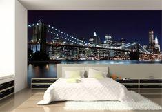 decoracion de dormitorios juveniles con fotomural en cabecero - Buscar con Google