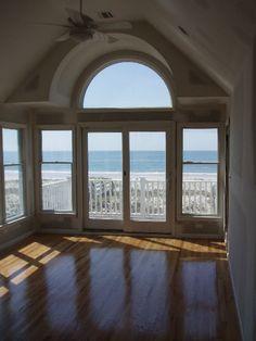 Hampton Beach House big bay window overlooking the ocean
