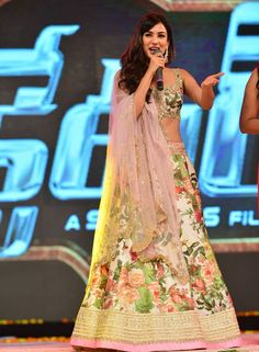 Sonal Chauhan Attended the Audio Launch of Dictator in Pink Floral Lehenga