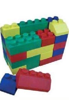 Set construcción foam.  Set de piezas tipo Lego en foam alta densidad. 26 piezas