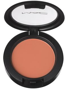 This sheer peach M.A.C. blush looks pretty and natural for daytime....