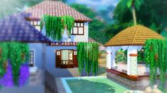 Hope you enjoyed my first build with the new Jungle Adventures game pack in the Sims I can't wait to explore the pack more and feature the new items in my. Sims 4 Restaurant, Restaurant Ideas, Sims Building, Gazebo, Villa, Sims Ideas, Outdoor Structures, Explore, Adventure