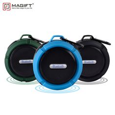 [ 50% Off ] Magift Waterproof Bluetooth Wireless Speaker Support TF Card with Suction Cup Portable Outdoor Bluetooth Column Bicycle Speaker