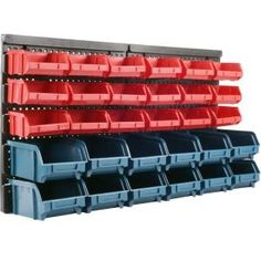 Stalwart, 30 Bin Wall Mounted Parts Rack, 75-92226 at The Home Depot - Mobile