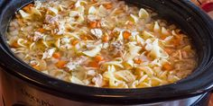 Crock Pot Chicken Noodle Soup Recipe - Slow Cooker