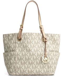 MICHAEL Michael Kors Signature Tote | macys.com.    My newest bag and I am in Love