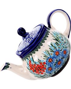 Teapot... LOVE POLISH POTTERY!