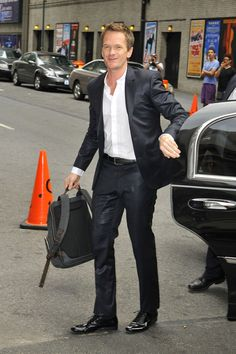 Neil Patrick Harris makes an appearance on the 'Late Show with David Letterman' in New York City.