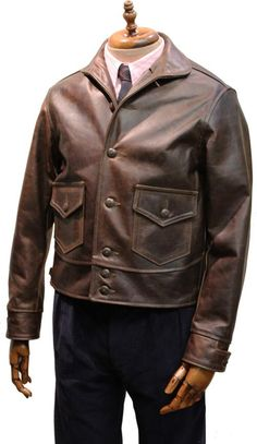 Aero - Aeromarine - A Horsehide Flight Jacket. Leather Jacket Outfits, Men's Leather Jacket, Leather Jackets, Mens Fashion Uk, Fashion Fashion, Dapper Suits, Sartorialist, Jacket Pattern, Apparel Design