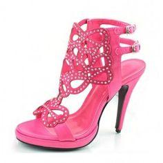 Fabulous Footwear Fetish Women Shoes Platform Gems High Heels Pink 2905 |Pink Heels|