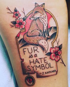 Check out 12 of our favorite tattoos of the animal rights variety!