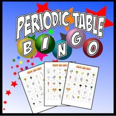 Bingo like it's never been played before! This is a great activity for consolidating learning, as a class reward or as a review. Keywords: periodic table, periodic table bingo, elements, elements bingo, the periodic table ★ 30 unique bingo cards ★ 35 elements of the periodic table ★ 4 questions for each element, you choose how easy or difficult to make it! ★ Ideal for differentiation ★ Each bingo card comes with the element symbol along with a graphic hint ★ Element Name and Symbo...