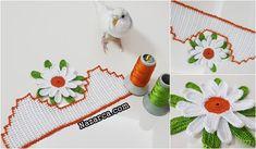 2 SIRA DESENLİ ÇARŞAF PİKE VE KENAR DANTELİ | Nazarca.com Lace Making, Towel, Kids Rugs, Spring, How To Make, Home Decor, Hair Streaks, Needlepoint, Chrochet