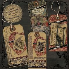 Alice in Wonderland Printable Gift Tags door MyDigitalDaydream, $3.50