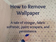 How to remove stubborn, stuck on wallpaper from bare unprepped drywall. Deep Cleaning Tips, House Cleaning Tips, Cleaning Solutions, Spring Cleaning, Cleaning Hacks, Homemade Toilet Cleaner, Cleaning Painted Walls, Glass Cooktop, All Purpose Cleaners