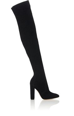 We Adore: The Isa Bouclé-Knit Cuissard Boots from Gianvito Rossi at Barneys  New York
