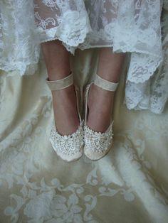 Lace Bridal Flat   by Hopefully Romantic