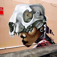 Street art by Apeseven in Sydney, Australia