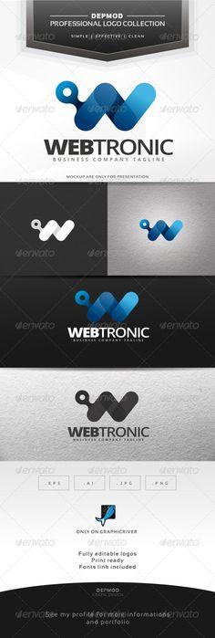 Webtronic Logo — Vector EPS #w letter #techology • Available here → https://graphicriver.net/item/webtronic-logo/7055686?ref=pxcr