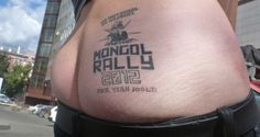 Mongol Rally arse tattoo - team Proverbial Do Gooders 2012 #MongolRally