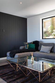 Relax in style by adding texture to your living room with HardieGroove Lining by James Hardie, creating a modern yet comfortable space. Dream Home Design, House Design, Fiber Cement Board, James Hardie, Living Spaces, Living Room, Interior Inspiration, Relax, Lounge