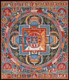 Mandala of Jnanadakini -  Date: late 14th century Culture: Tibet Medium: Distemper on cloth