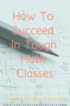 Math causes anxiety in many students. It doesn't have to be this way though! With the right attitude and steps, almost anyone can perform well in math. Check out the tips I give my students who find themselves struggling in math. #engineering #stem #math #tips #college College Math, College Hacks, Education College, School Of Engineering, Engineering Courses, Computer Engineering, Civil Engineering, Stem Students