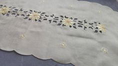 This lovely vintage table runner has beautiful cream color, delicate hand embroidered yellow and orange floral ornamentation and dates from the late 1980s. It is in perfect mint condition now. It has never been used.  ✧Condition: Mint  ✧Measures: 35.04 x 15.75 inches (89 x 40 cm)  ✧Washing tips: Wash your runner table linen with one teaspoon of mild soap in max 100°F. After washing, gently wring it out and rinse it as many times as necessary to get the soap out of it (until the water is…