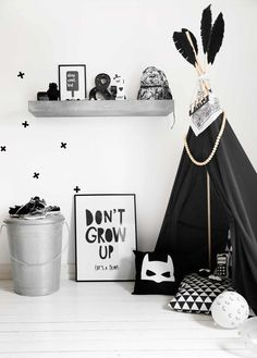 Stylish 32 Marvelous Black And White Kids Room Design Ideas To Try This Month Boys Black And White Bedroom, Grey Boys Rooms, White Kids Room, Grey Bedroom With Pop Of Color, Black And White Baby, Baby Boy Rooms, White Rooms, Black Boys, Monochrome Nursery
