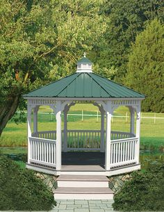 Pergola Ideas For Patio Gazebo Plans, Backyard Gazebo, Backyard Sheds, Wooden Garden Gazebo, Wooden Garden Furniture, Raised Bed Garden Design, Outdoor Fireplace Designs, Garden In The Woods, Pergola Designs