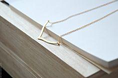Chevron Necklace Geometric Jewelry par BoutiqueMinimaliste sur Etsy, $14,00