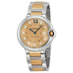 Cartier Ballon Bleu Rose Gold Dial Steel And 18kt Rose Gold Ladies Watch We902054. => http://www.amazon.com/Cartier-Ballon-Steel-Ladies-WE902054/dp/B00JLKCF7Q/watches0906-20/ => Brand, Seller, or Collection Name:Cartier,Part Number:WE902054,Case material:Stainless Steel,Case diameter:36,Dial color:Rose Gold Tone,Bezel material:Fixed Stainless Steel,Warranty type:Contact seller of record