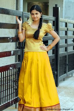 Aashritha cute South Indian movie heroine in blouse and long skirt latest high quality images. Indian film star Aashritha like a c. Beautiful Girl Indian, Most Beautiful Indian Actress, Beautiful Girl Image, Beautiful Saree, Beautiful Women, Indian Skirt, Dress Indian Style, Long Skirt And Top, Long Skirts