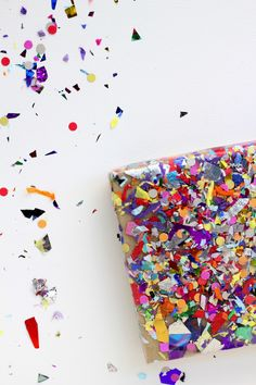 a confetti decorated package is my fave