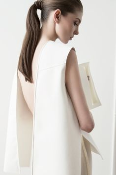 Elegant Simplicity - open back vest, contemporary fashion // Kay Frank