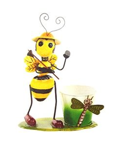 42cm Novelty Busy Bee Sculpture Plant Pot Garden Ornament BA131183 - Bee With Hoe Premier http://www.amazon.co.uk/dp/B00WGO162Y/ref=cm_sw_r_pi_dp_aiNtvb0BCNZN7