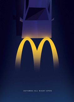 This McDonald's advertisement does well in making the M stand out against a dark background to show the nighttime effect. It's a simple design with a short tagline to get the whole idea across that it's open all night. Creative Advertising, Ads Creative, Print Advertising, Ad Design, Graphic Design, Marketing Trends, What Is Fashion Designing, Best Ads, Dark Backgrounds