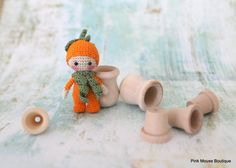 Amigurumi Doll Pumkpin Doll Crochet Doll by PinkMouseBoutique
